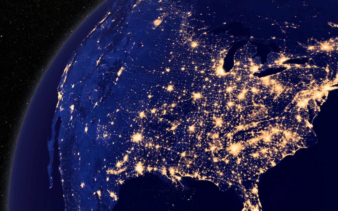Image of the earth at Night Target | Telrock