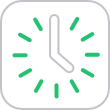 Green Clock Icon | Telrock